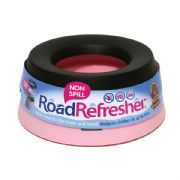 Road Refresher Pink Small Non Spill Pet Water Bowl